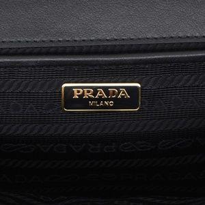 Prada Bags - PRADA Saffiano Soft Chain Shoulder Bag Black